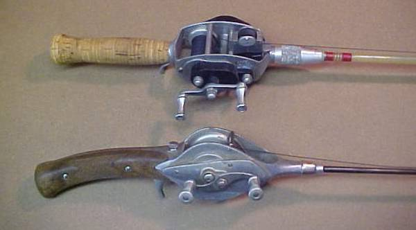 Antique fishing collectibles miscellaneous antique for Antique fishing rods
